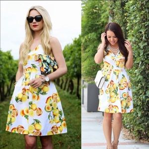 Banana Republic Lemon Fruit Dress